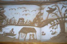 Малювання піском— майстер клас